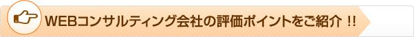 WEBコンサルティング会社の評価ポイントをご紹介 !!
